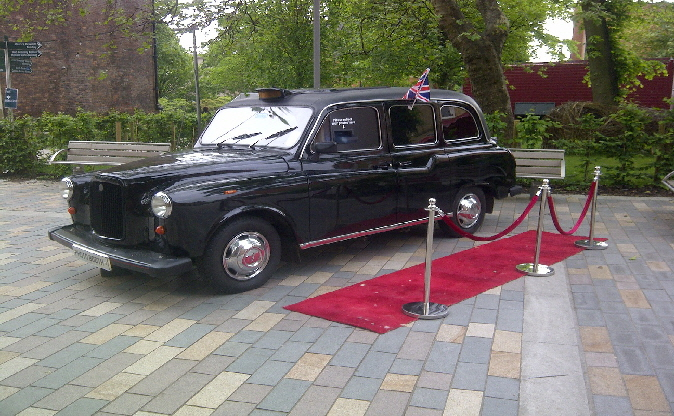 Penny, our black London taxi cab for hire